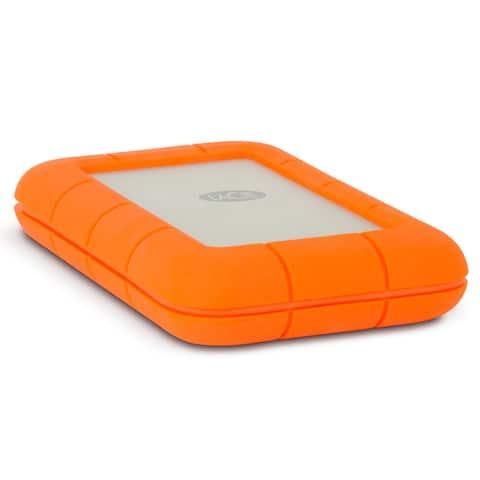 LaCie Rugged USB-C 2TB Portable External Hard Drive