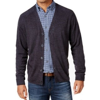 Weatherproof NEW Heather Blue Mens Size XL Button-Down Cardigan Sweater
