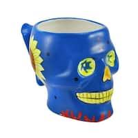 Blue Day of the Dead Skull Mug - Multi