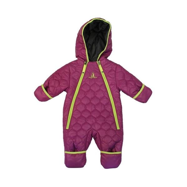 Rugged Bear Girls 9-18 Months Ribbed Quilt Pram - Purple