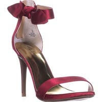TS35 Raee Bow Accent Ankle-Strap Dress Sandals, Red