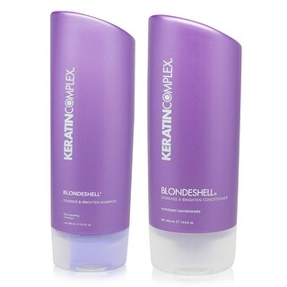 Keratin Complex Blondeshell Debrass & Brighten Shampoo And Conditioner 13.5 oz Combo Pack