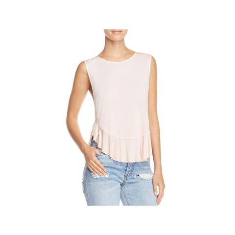 We The Free Womens Uptown Casual Top Peplum V-Hem