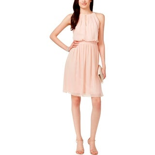 Adrianna Papell Womens Cocktail Dress Chiffon Keyhole