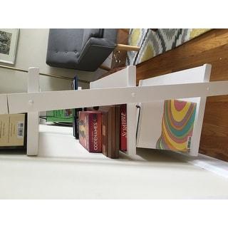 White Five-tier 2-piece Leaning Ladder Shelf Set