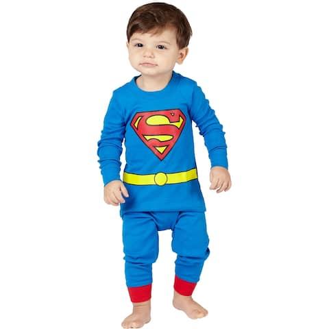 INTIMO Boys' Toddler' Superman Pajama Set