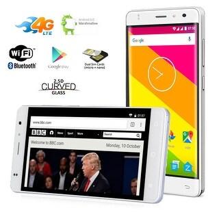 "Indigi 5.0"" Android 6.0 QuadCore Dual-Sim 4G LTE Smartphone AT&T Straight Talk - White"