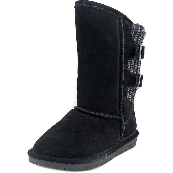 Bearpaw Boshie Women Round Toe Suede Black Winter Boot