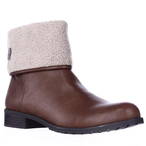 SC35 Beana Fleece Lined Winter Ankle Boots, Barrel/Natural