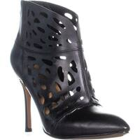 Nine West Darenne Pointed-Toe Ankle Boots, Black Leather - 5.5 us