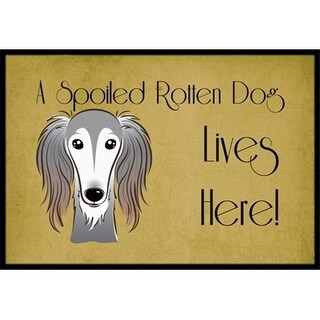 Carolines Treasures BB1477JMAT Saluki Spoiled Dog Lives Here Indoor & Outdoor Mat 24 x 36 in.