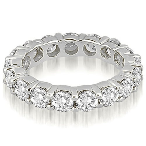 4.25 cttw. 14K White Gold Round Shared Prong Diamond Eternity Ring