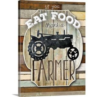 """""""Thank a Farmer"""" Canvas Wall Art"""