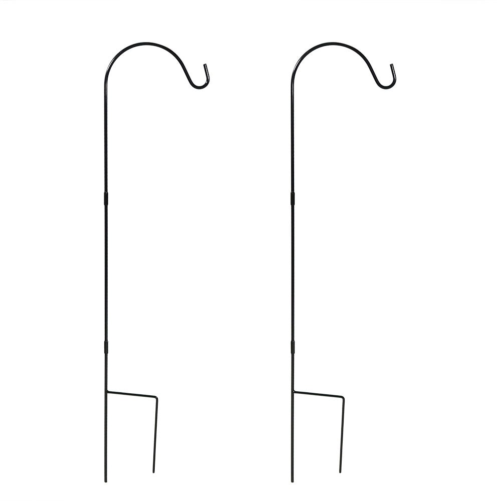 Sunnydaze Single Shepherd Hooks - Size Options Available - Black - Thumbnail 1