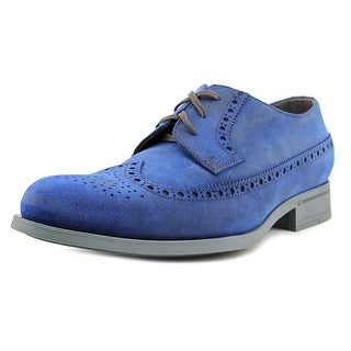 Harrys of London Baron Men Round Toe Leather Blue Oxford