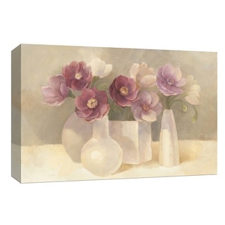 """PTM Images 9-153906  PTM Canvas Collection 8"""" x 10"""" - """"Anemones in Plum"""" Giclee Flowers Art Print on Canvas"""