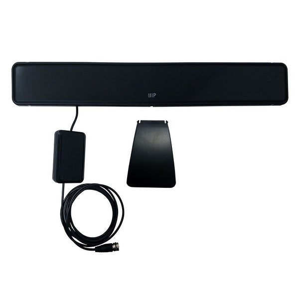 Monoprice Slim Active HD3 HDTV Antenna, 40 Mile Range