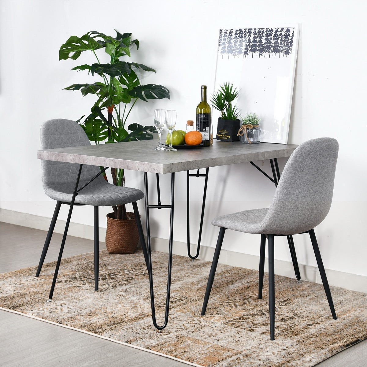 Carbon Loft Searz Modern Cement Grey Dining Table On Sale Overstock 28226795