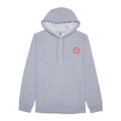 Jem Marvel Captain America Grey Heather Hooded Sweatshirt Medium M
