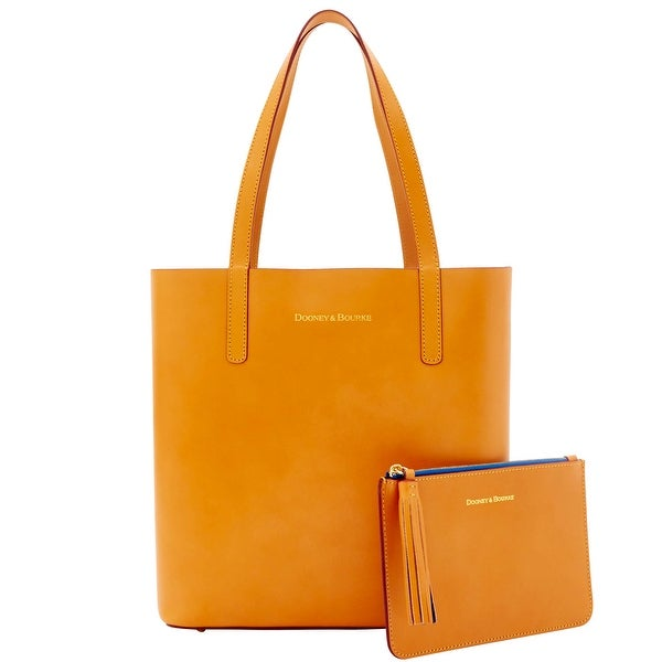 Dooney & Bourke Montecito Waverly Tote Pouch (Introduced by Dooney & Bourke at $298 in Aug 2016) - butterscotch blue