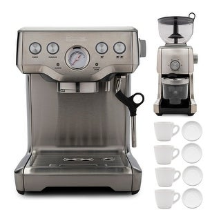 Link to Breville The Infuser Espresso Machine with Burr Coffee Grinder Bundle Similar Items in Kitchen Appliances