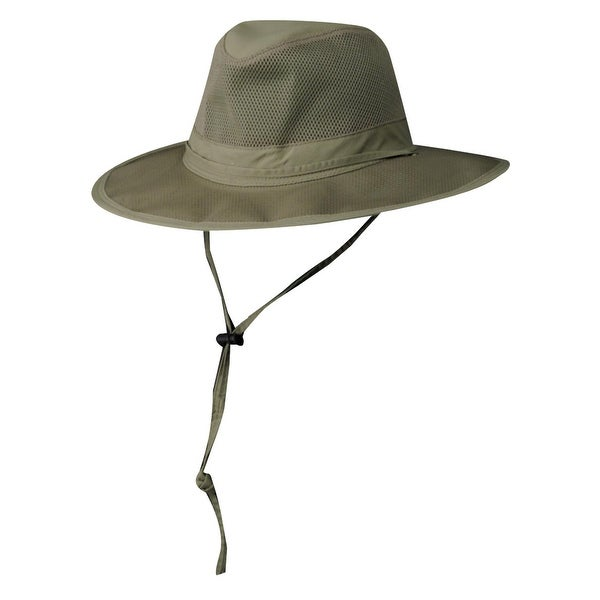45d8b9fd Shop DPC Outdoor Design Ultra Lightweight Mesh Supplex Safari Hat - Free  Shipping On Orders Over $45 - Overstock - 14281392