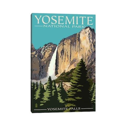 "iCanvas ""Yosemite National Park (Yosemite Falls II)"" by Lantern Press Canvas Print"