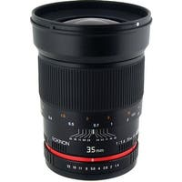 Rokinon 35mm f/1.4 AS UMC Lens for Canon EF - black