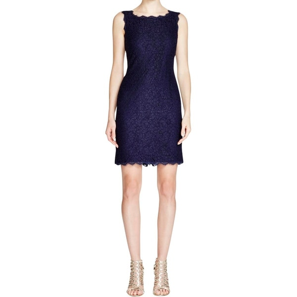 Adrianna Papell Womens Cocktail Dress Lace Fringe