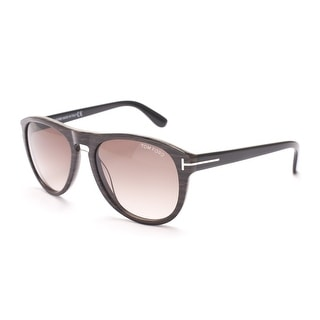 Tom Ford Women's Kurt Oval Sunglasses Brown/Black - Small