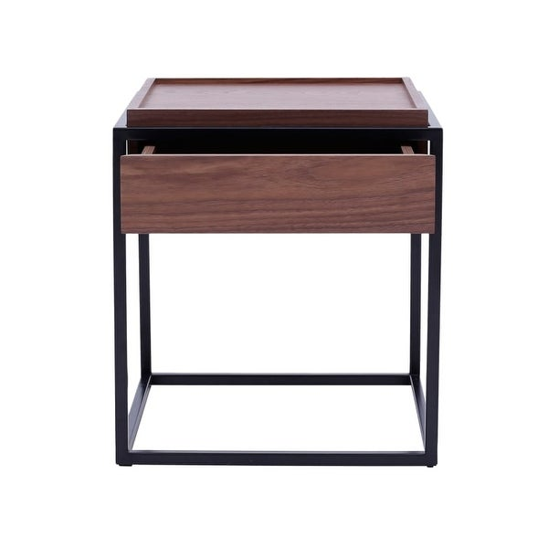 Moes Home Collection Ad 1055 Kristoff 20 Inch Wide Wood Veneer End Table With Me