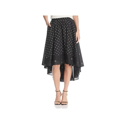 Kenneth Cole Womens Flare Skirt Printed Hi-Low