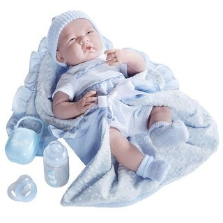La Newborn 18787 Soft Body Bunting & Accessories, Blue