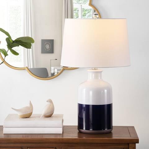 "SAFAVIEH Lighting 25.5-inch Dani Ceramic Table Lamp - 15"" x 15"" x 25.5"""