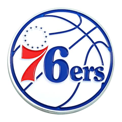 "3"" Blue and Red NBA Philadelphia 76ers 3D Emblem - N/A"