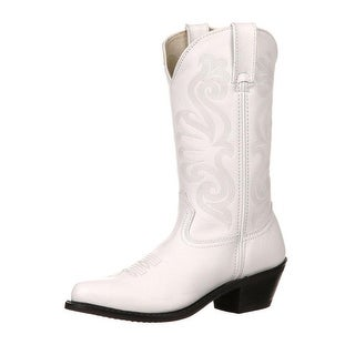 "Durango Western Boots Womens 11"" Leather Cowgirl Heel White"