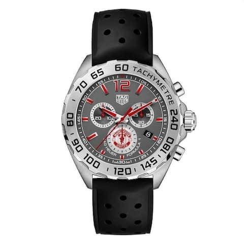 Tag Heuer Men's CAZ101M.FT8024 'Formula 1' Chronograph Black Rubber Watch - Grey