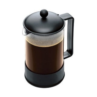 Bodum 1552-01US 12 Cup Black Brazil French Press Coffee Maker