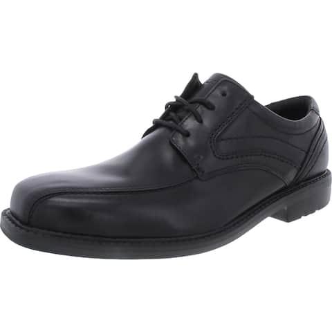 Rockport Mens Whitner Oxfords Leather Lace Up - Black - 10 Medium (D)