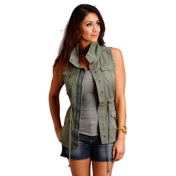 Stetson Western Vest Womens Cargo Embroidery Patch