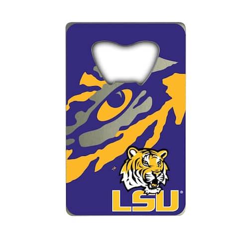 Louisiana State University Metal Credit Card Bottle Opener - 2in. X 3.25in.