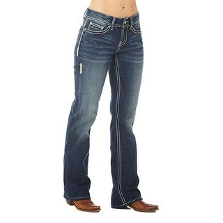 Cowgirl Up Denim Jeans Womens Bootcut Med Dark Stonewash CGJ30605