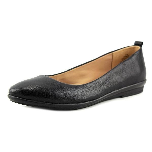 Easy Spirit Kimera Women Round Toe Leather Black Flats