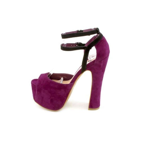 Dolce Vita Womens Viena Suede Peep Toe Special Occasion Ankle Strap Sandals - 6
