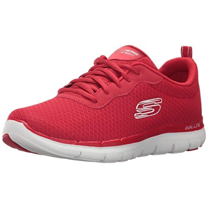 Skechers Sport Women's Flex Appeal 2.0 Newsmaker Sneaker,Red,6.5 M Us