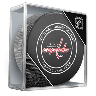 Inglasco NHL Washington Capitals Regular Season Official Game Puck Cube Black - Washington Capitals