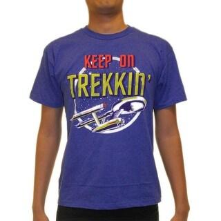 Star Trek Keep On Trekkin Junior's Blue T-shirt