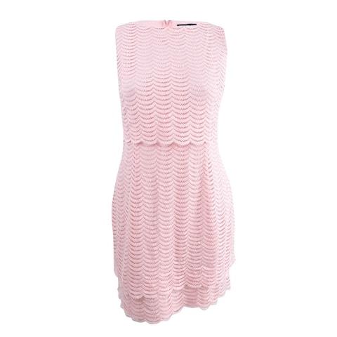 American Living Women's Mesh Popover Dress (18, Pink) - Pink - 18