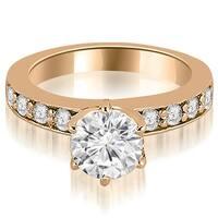 0.90 CT.TW Round Cut Diamond Engagement Ring - White H-I