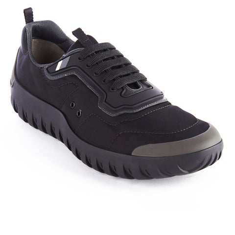 Prada Men's Neoprene Low Top Sneaker Shoes Black